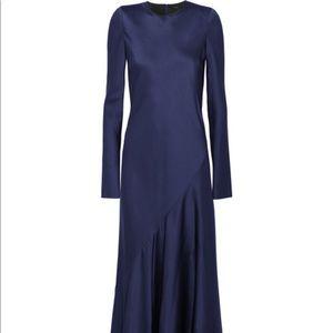 Haider Ackerman blue long sleeve maxi gown